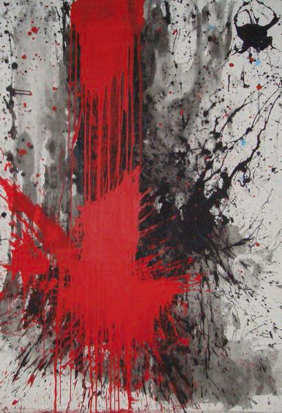 ohne Titel 3, Acryl auf Leinwand 100x180