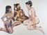 Drei Kontinente, Acryl auf Leinwand 128x103