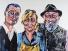 Lehrling mit Meistern, Acryl auf Leinwand 150x100