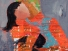 Liebesgeflüsster, Acryl auf Leinwand 100x100
